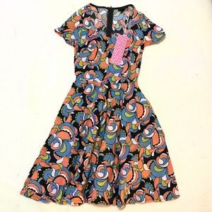 NWT Nooworks Flower Power Loretta Dress XS